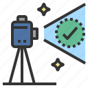 accuracy, precise, survey, theodolite, tripod icon