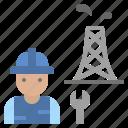 construction, engineer, maintenance, oilfield, repairman icon