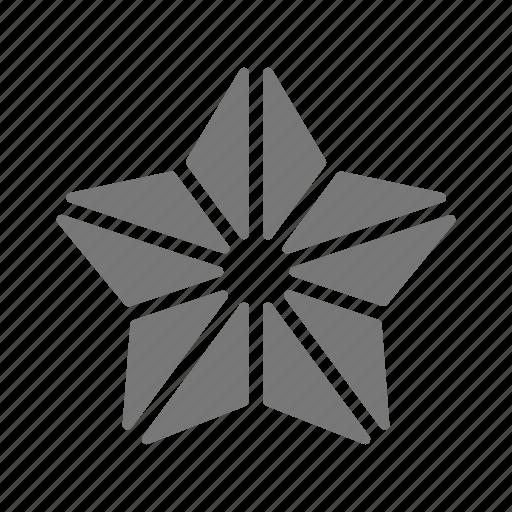 abstract, crystal, education, geometric, polygon, shape icon