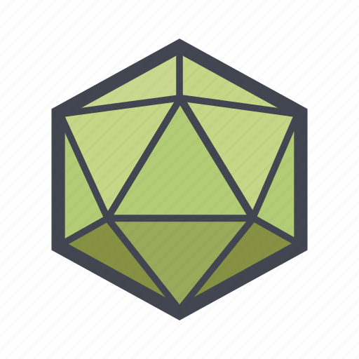 abstract, crystal, education, geometric, polygon, shape icon