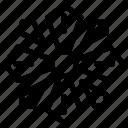 christmas snowflake, flower snowflake, geometric snowflake, snowflake, snowflake design icon