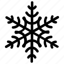 christmas snowflake, crystal snowflake, geometric snowflake, holiday snowflake, snowflake icon