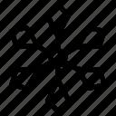 geometric snowflake, hexagon snowflake, snowflake, snowflake design, snowflake drawing icon