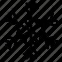 christmas snowflake, flower snowflake, geometrical snowflake, holiday snowflake, snowflake icon