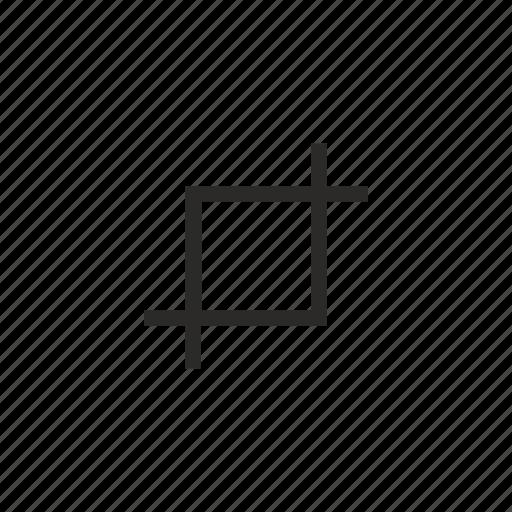 crop, edit, tool icon