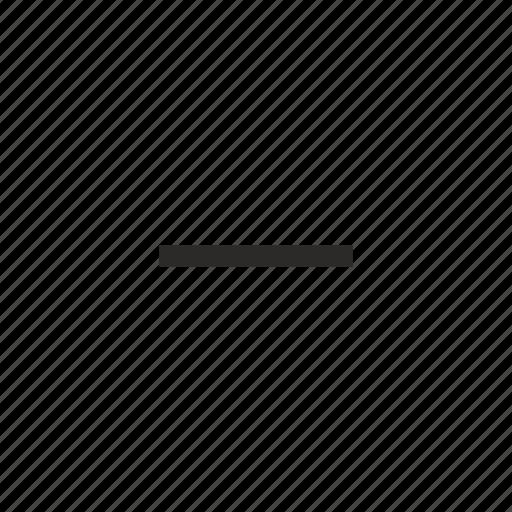 cut, erase, minus icon