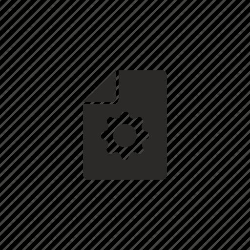 file, new, settings icon