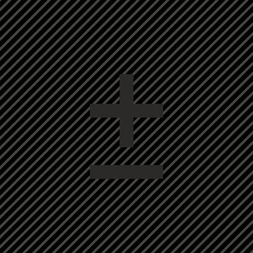 function, math, minus, plus icon