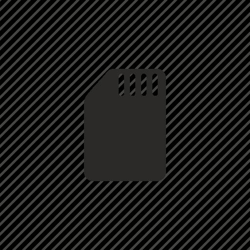 card, phone, sim icon