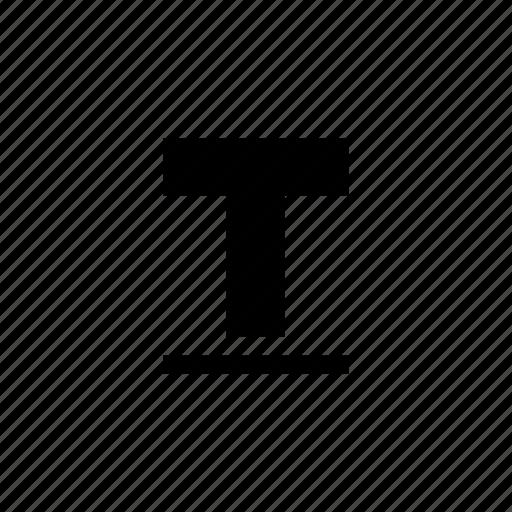 format, letter, text, underline icon