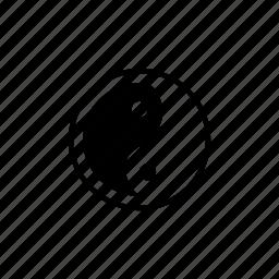 religion, yang, yin icon