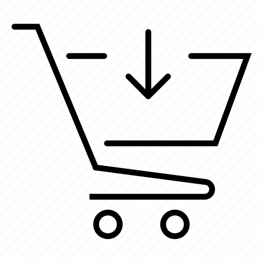cart, shopping, shopping cart, store icon