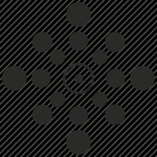 complex, form, geometry, logo, logotype, round icon