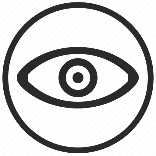 eye, form, logo, logotype, sight, view icon
