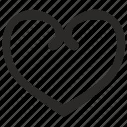 bakery, form, heart, logo, logotype, love, romantic icon