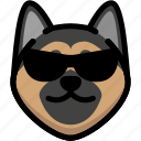 emotion, german shepherd, face, emoji, feeling, expression, cool