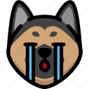 emotion, cry, dog, face, feeling, expression, emoji icon