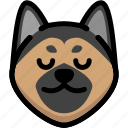 emoji, emotion, expression, face, feeling, german shepherd, peace icon