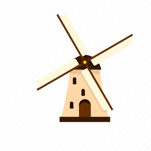 agriculture, farm, mill, rural, traditional, wind, windmill icon