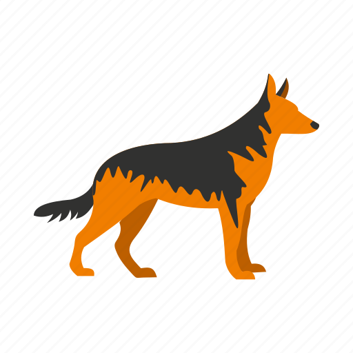 animal, breed, dog, german, pet, portrait, shepherd icon