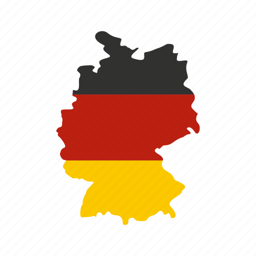 border, country, europe, flag, geography, germany, map icon