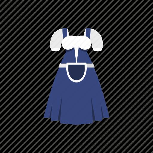 costume, dress, german, germany, girl, traditional, waitress icon