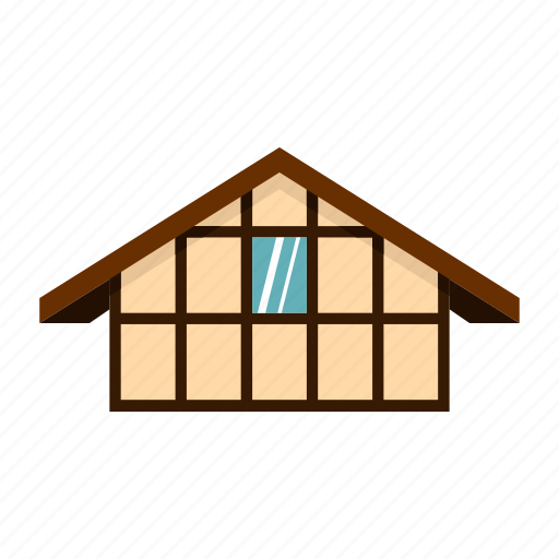 architecture, building, facade, house, old, town, window icon