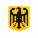 arms, coat, country, eagle, german, germany, official