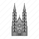 building, cathedral, church, germany, history, national, religion icon