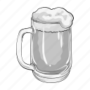 alcohol, beer, drink, foam, glass, pub icon