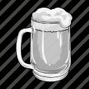 alcohol, beer, drink, foam, glass, pub