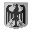 arms, coat, country, germany, national icon