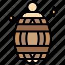 barrel, humanpictos, man, people icon