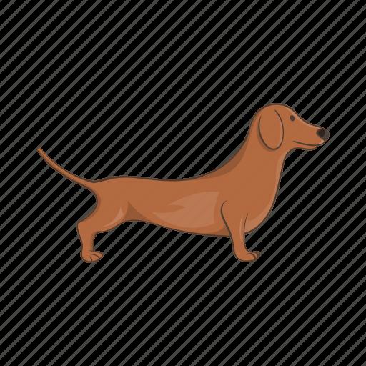 animal, cartoon, dachshund, dog, german, pet, puppy icon