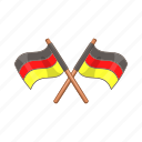 cartoon, flag, german, germany, national, patriotism, travel icon