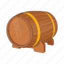 alcohol, barrel, beer, cartoon, keg, old, wood icon
