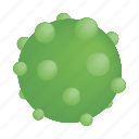 bacteria, biology, disease, isometric, pimples, sphere, virus icon