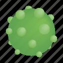 bacteria, biology, disease, isometric, pimples, sphere, virus