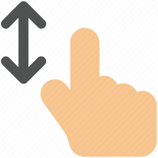 arrow, arrows, bottom, creative, down, drag, finger, fingers, four, four-fingers-drag, gesture, grid, hand, interaction, line, move, shape, swipe, top, touch, touch-gestures, up, work icon icon icon