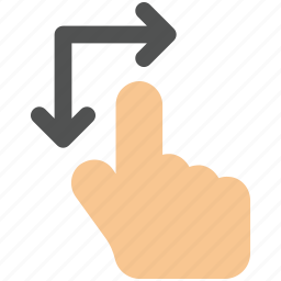 arrow, arrows, creative, down, finger, fingers, gesture, grid, hand, interaction, line, move, right, rotate, rotate-gesture, shape, touch, touch-gestures, up, work icon icon icon