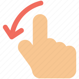 finger, gesture, hand, interactive, left, scroll, swipe icon icon icon