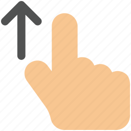 arrow, drag, finger, gesture, hand, up icon icon icon