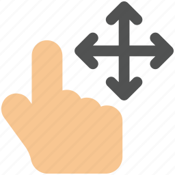 arrow, arrows, bottom, creative, direction, down, drag, finger, finger-drag-four-sides, fingers, four, gesture, grid, hand, interaction, left, line, move, right, shape, sides, slide, swipe, top, touch, touch-gestures, up, work icon icon icon