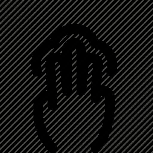 3x, gesture, swipe, tab, touchpad icon