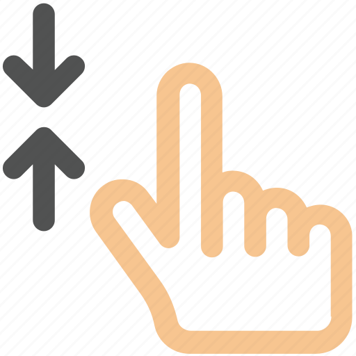 arrow, hand, out, zoom icon icon
