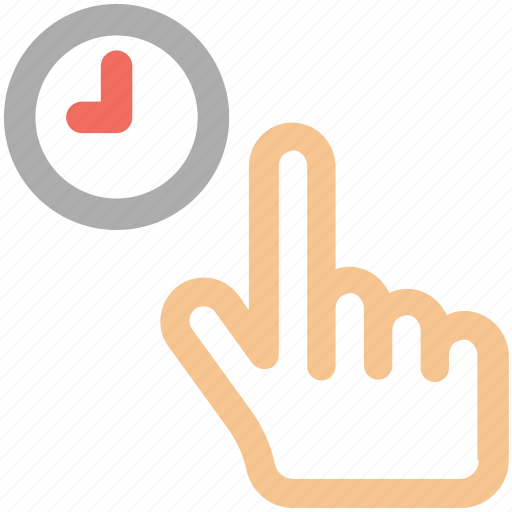 clock, hand, hold, tap icon icon