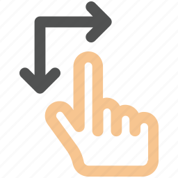 arrow, arrows, creative, down, finger, fingers, gesture, grid, hand, interaction, line, move, right, rotate, rotate-gesture, shape, touch, touch-gestures, up, work icon icon