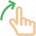 finger, gesture, hand, interactive, right, scroll, swipe icon icon