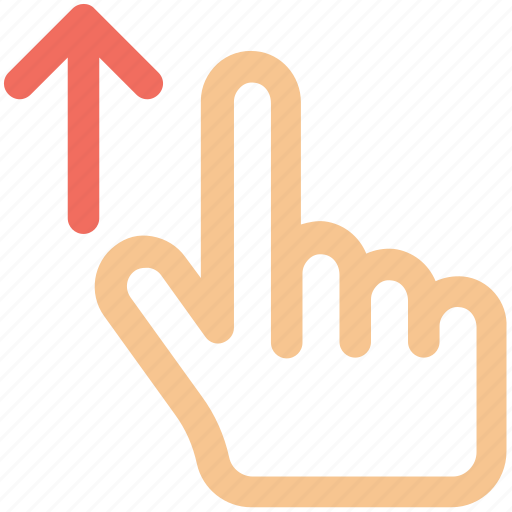arrow, drag, finger, gesture, hand, up icon icon