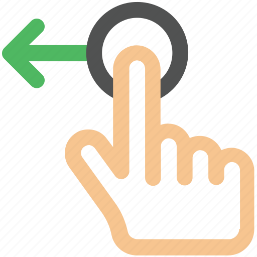 arrow, creative, drag, drag-left, finger, fingers, gesture, grid, hand, interaction, left, slide, swipe, touch, touch-gestures, work icon icon